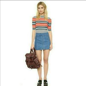 Free People denim mini skirt size 4